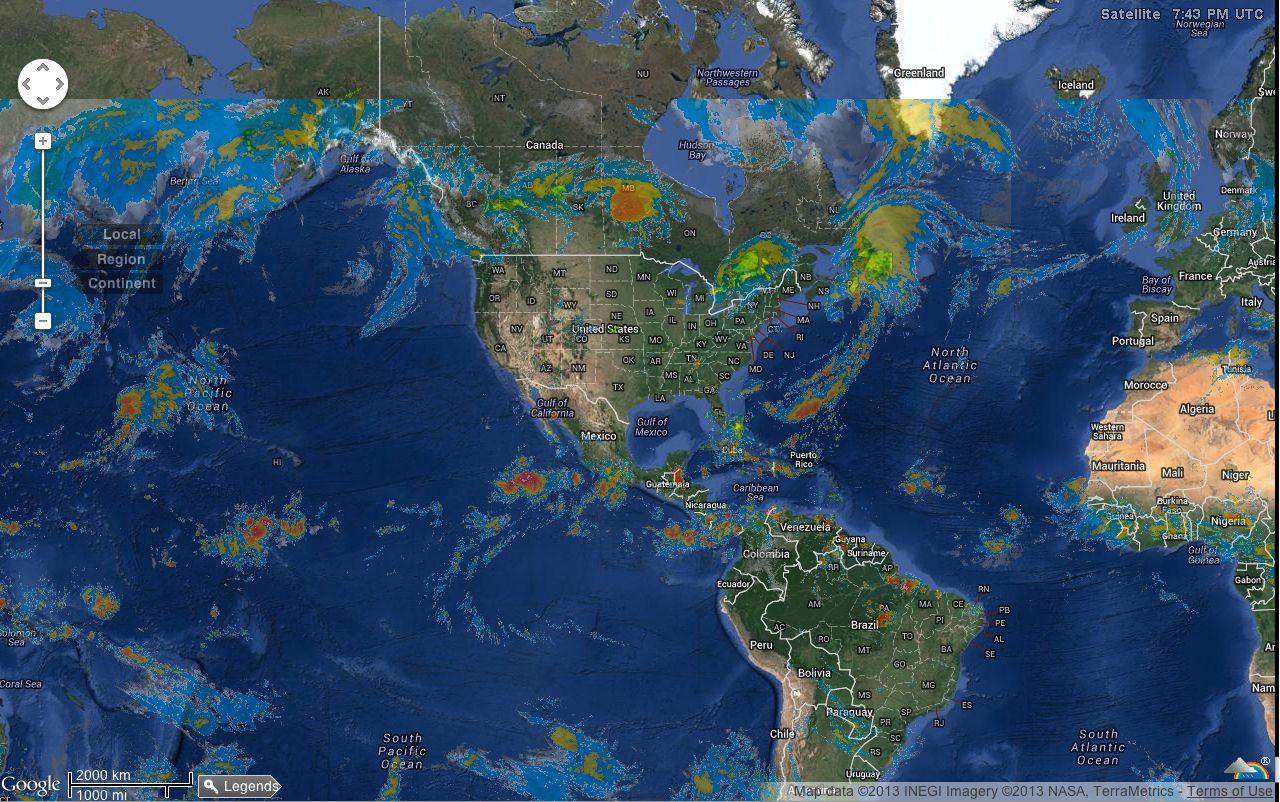 August - World weather satellite images